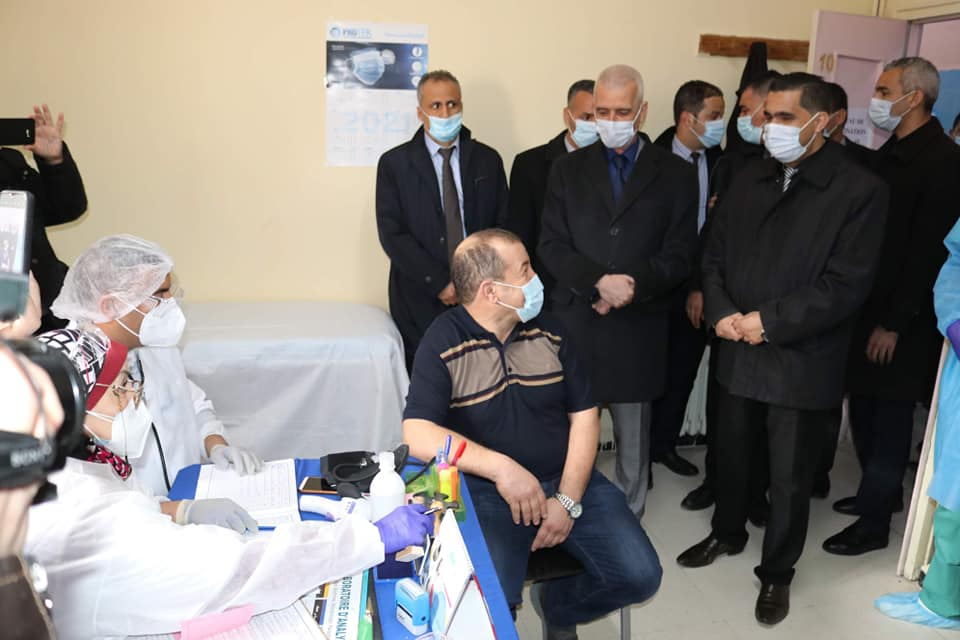 الإنطلاق الرسمي لعملية التلقيح ضد وباء كورونا كوفيد