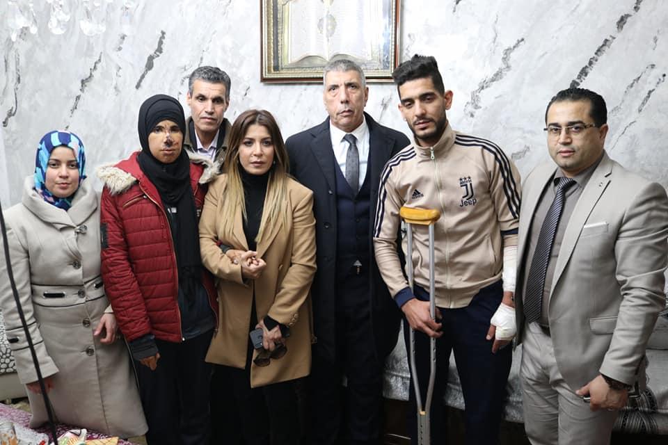أدى والي الولاية السيد عباس بداوي واجب العزاء لعائلة المرحومة سعاد قريشي البطلة الرياضية