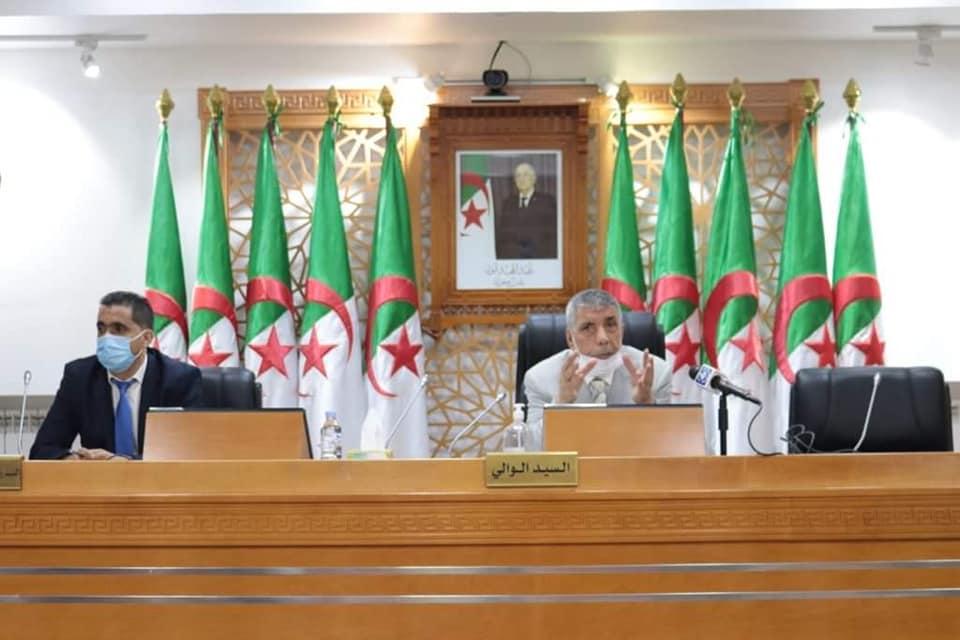 اجتماع اللجنة الأمنية الخاص بالتحضير للامتحانات الرسمية دورة سبتمبر 2020