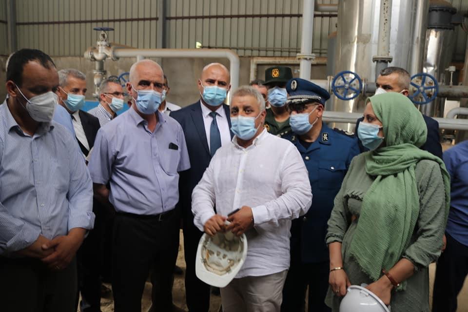 زيارة لمصنع الاكسجين بعد اشرافه الشخصي على دخوله حيز الخدمة
